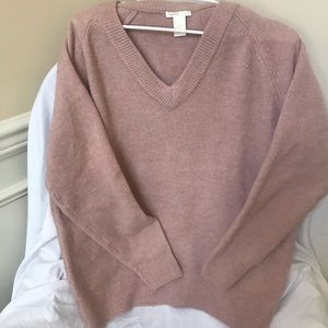 H&M blush pink colored comfy sweater